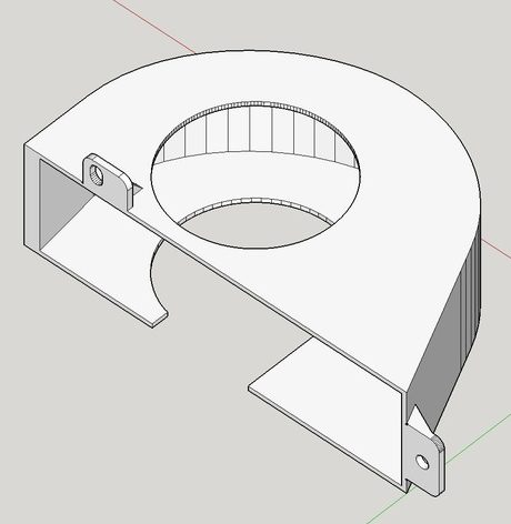 Fan Duct for Elmo 16-CL 16mm Projector