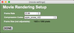 HD transfer Render Settings