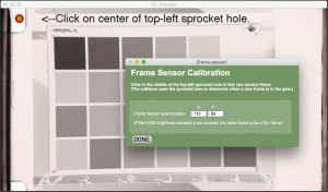 HD transfer frame sensor window