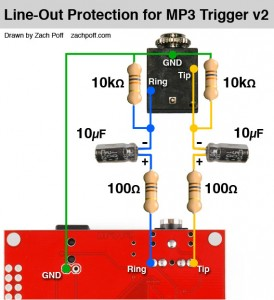 MP3 Trigger Line-out Circuit