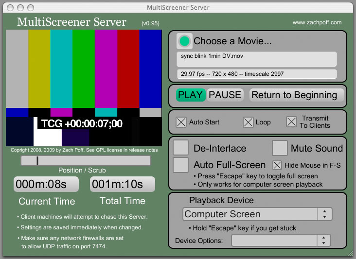 MultiScreener – Zach Poff