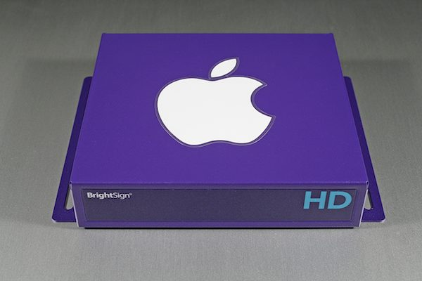BrightSign with Apple Logo Sticker