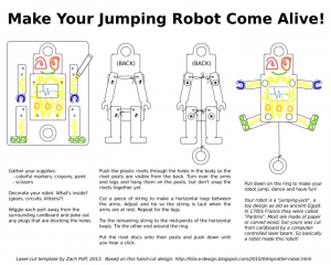 Robot Jumping Jack Instructions (rivet version)
