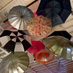 Uncovered @ Headscapes - umbrellas in ceiling