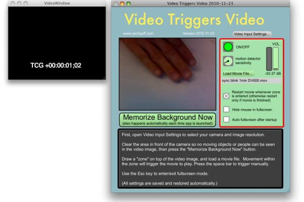 Video Triggers Video